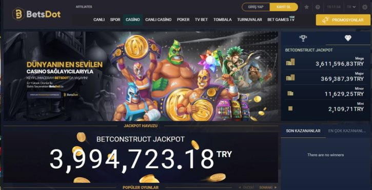 Betsdot Casino Sayfası