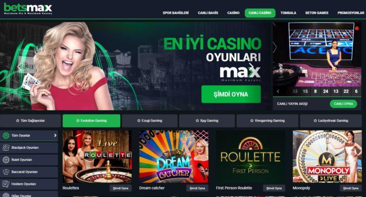 Betsmax canlı casino girişleri