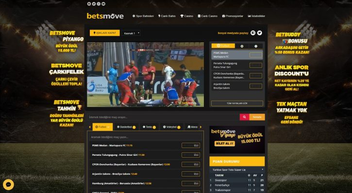 Betsmove TV hizmeti