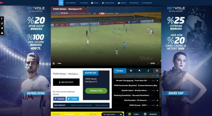 Betvole TV yayın aracı