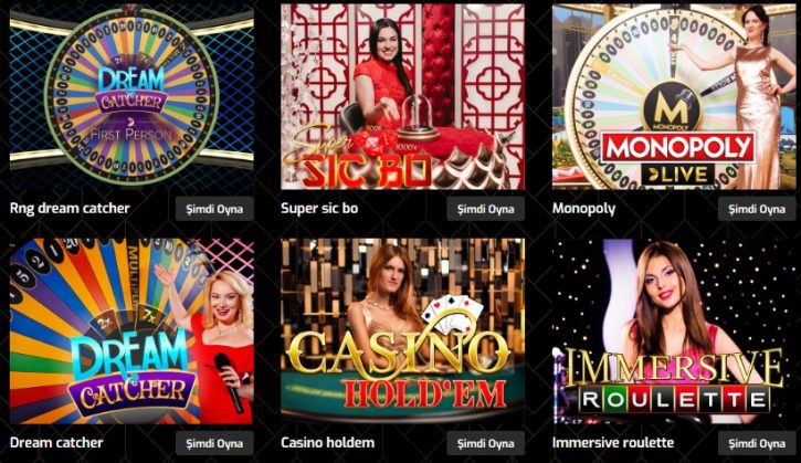 Bingobet canlı casino oyunları