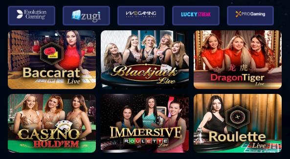 Bonibet canlı casino oyunları