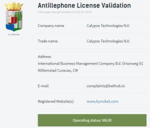 Bynobet lisans durumu: Aktif ☑