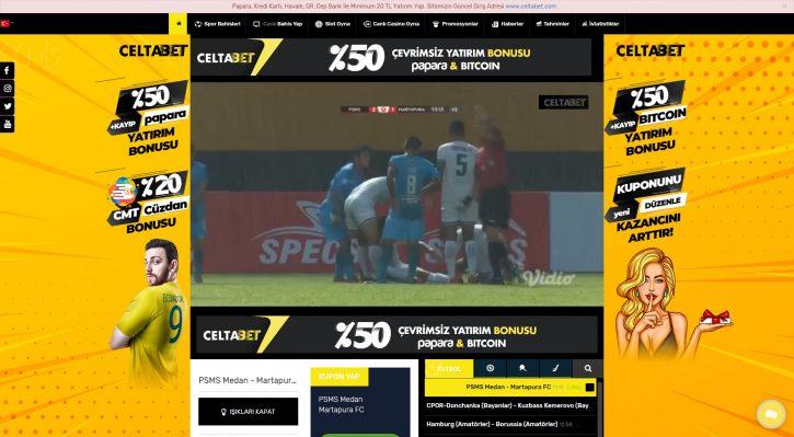 Celtabet TV sitesi yayında