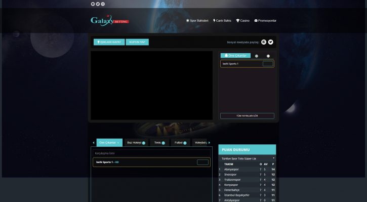 Galaxybetting TV