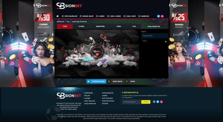 Sionbet TV sitesi