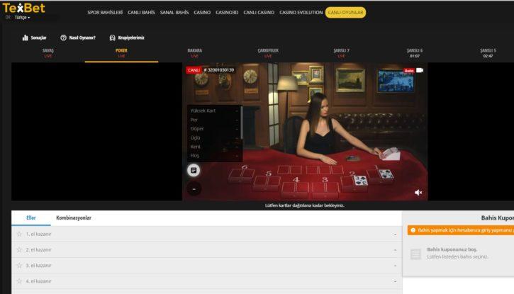 Texbet casino giriş