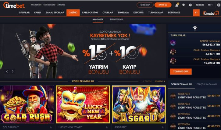timebet casino oyunları slot makinesi