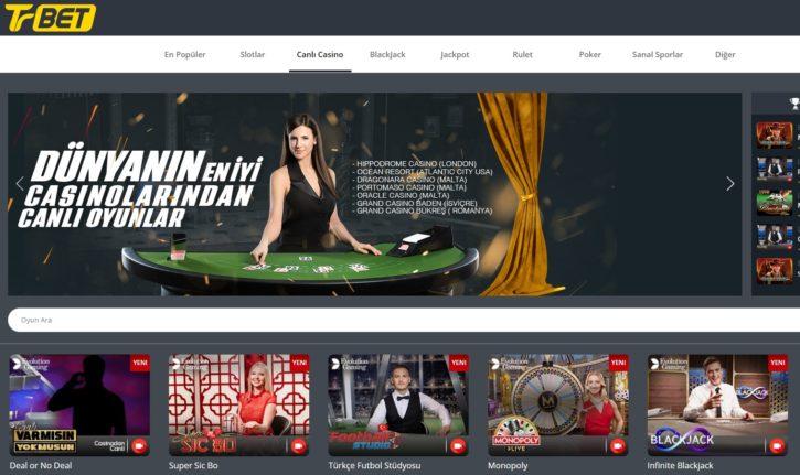 Trbet canlı casino giriş