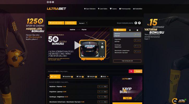 Ultrabet TV sitesi