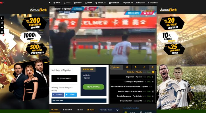 Venusbet TV uygulaması